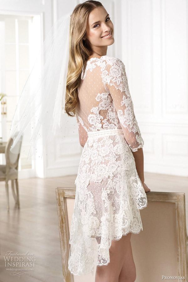 Atelier pronovias 2014 wedding dresses wedding inspirasi for Lace wedding short dress