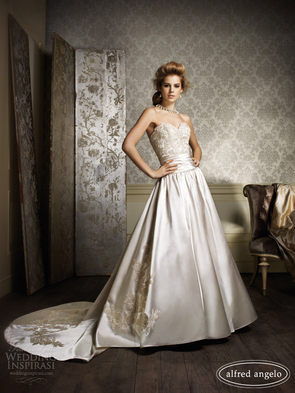 alfred angelo 2014 wedding dresses gold ivory 882