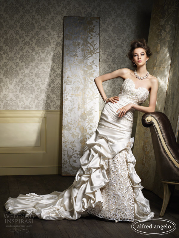alfred angelo 2014 wedding dresses gold ivory 886