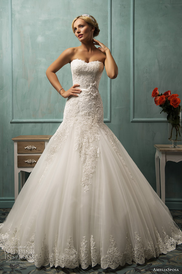 amelia sposa 2014 arabella fit and flare wedding dress