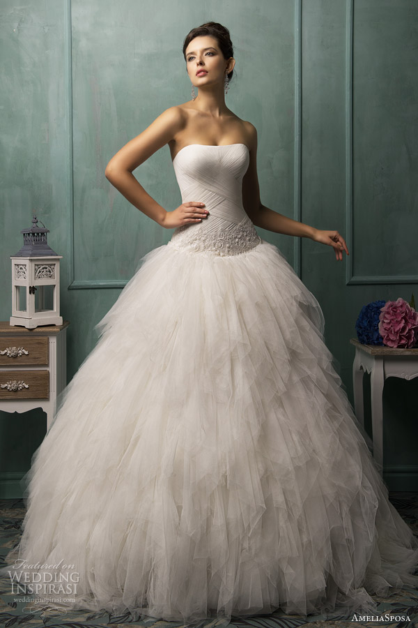 amelia sposa 2014 bella strapless wedding dress