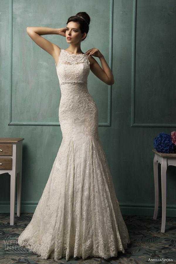 amelia sposa bridal 2014 bianca sleeveless wedding dress