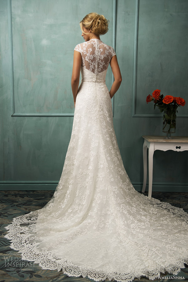 Illusion back wedding dress for Wedding dress illusion back