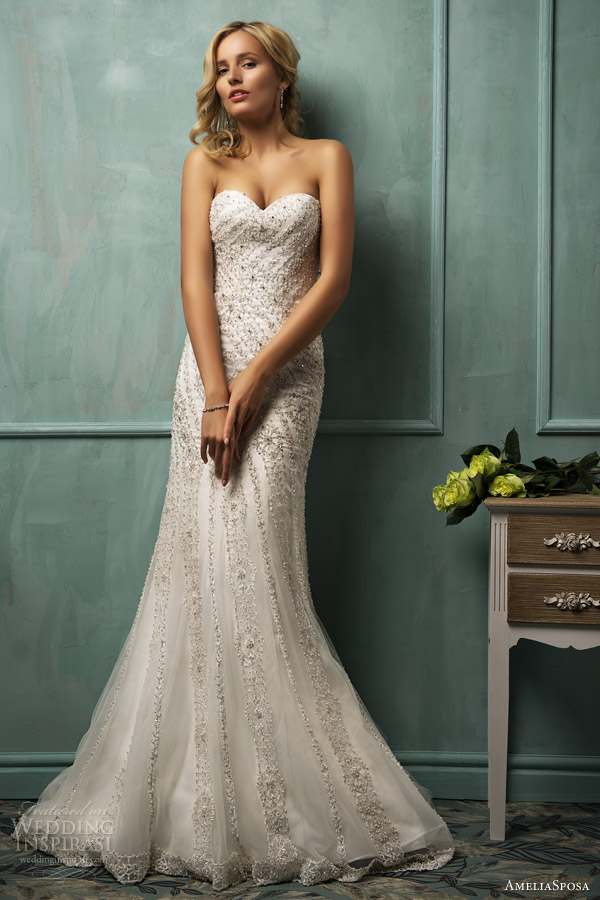 amelia sposa bridal 2014 cloe strapless wedding dress
