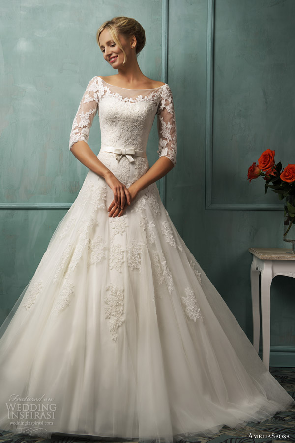 amelia sposa bridal 2014 donatela wedding dress sleeves