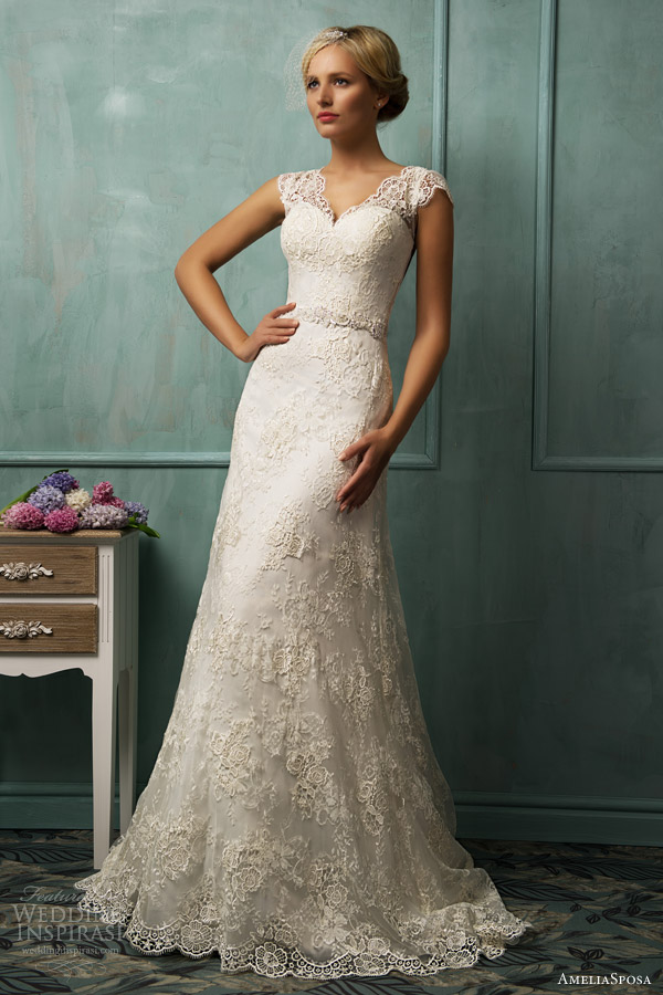 amelia sposa wedding dresses 2014 donata lace gown