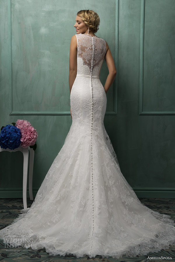 amelia sposa wedding dresses 2014 helena gown illusion back train