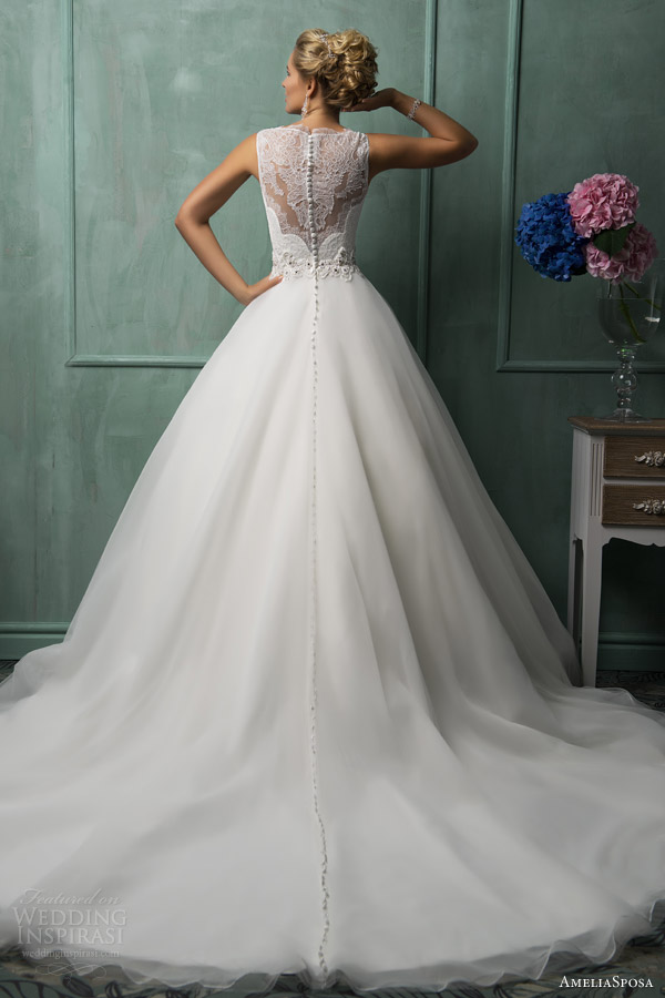 Ameliasposa 2014 wedding dresses wedding inspirasi page 2 for Wedding dress with illusion top