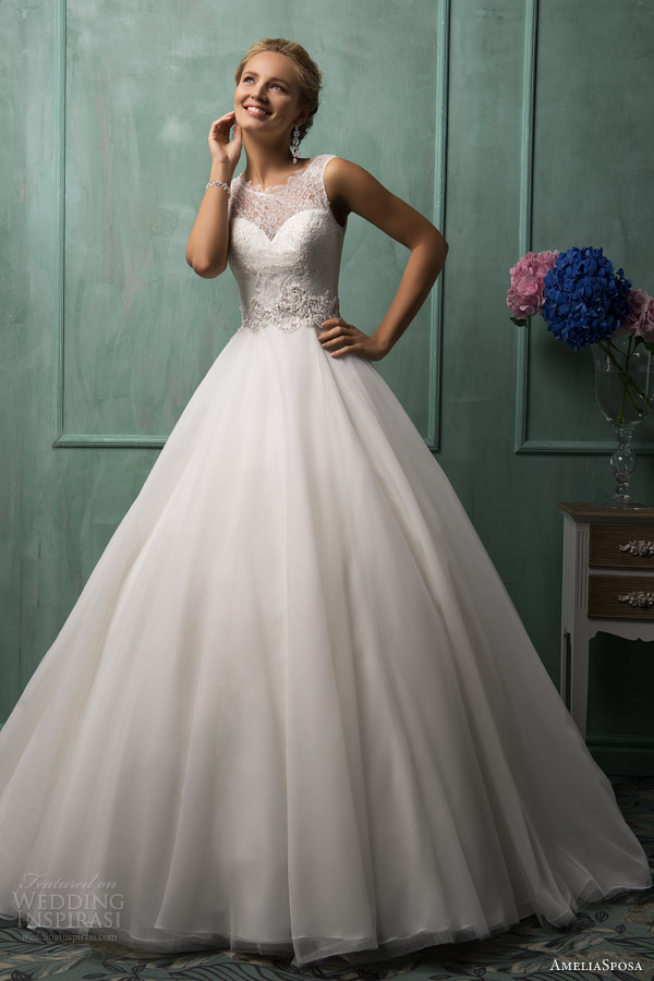 amelia sposa wedding gowns 2014 tabita sleeveless ball gown