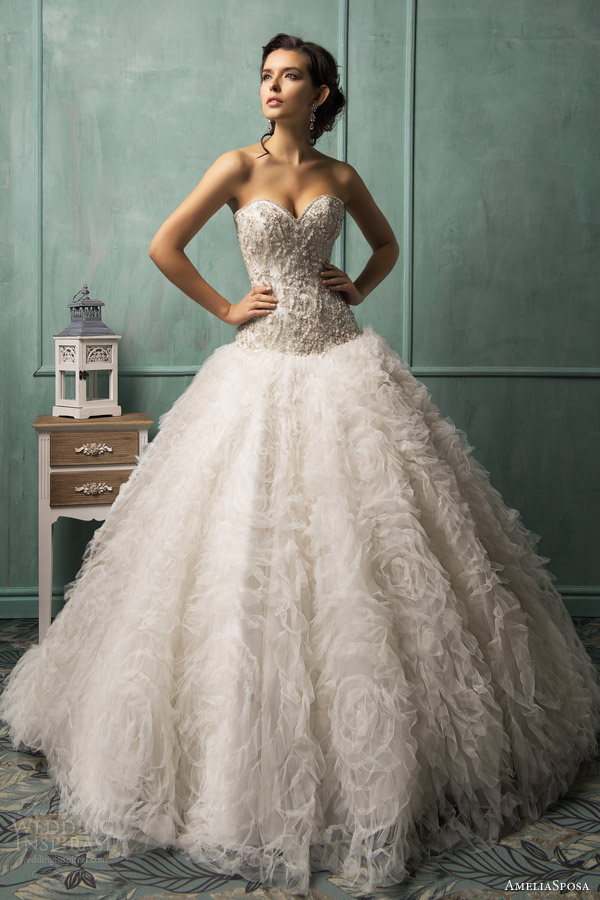 amelia wedding dresses 2014 sposa rebecca strapless ball gown