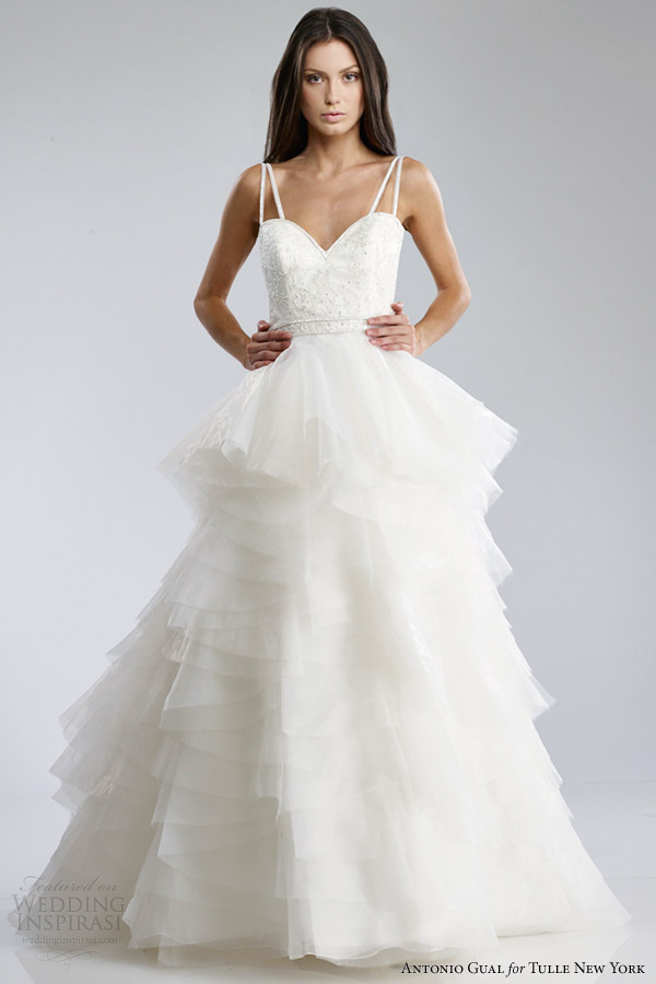 Wedding Dresses For   New York : Gual for tulle new york fall wedding dresses mariposa bridal