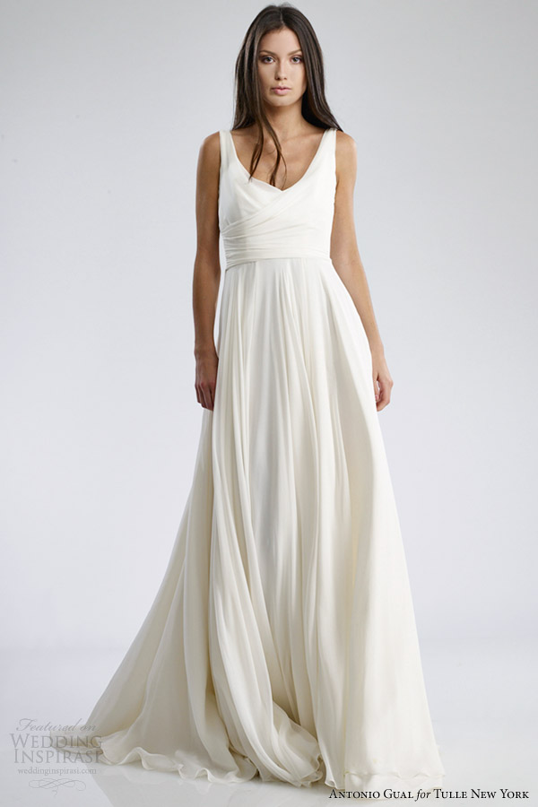 antonio gual tulle new york wedding dresses fall 2014 judy gown