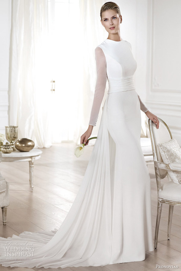 dc7ac61546a atelier pronovias wedding dresses 2014 atelier yelice long sleeve bridal  gown