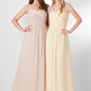 bari jay bridal bridesmaids dress style 877 beige daffodil