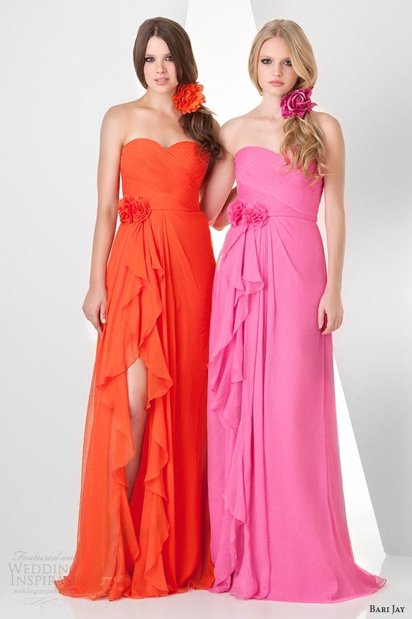 Orange Wedding Dresses 68 Spectacular bari jay strapless bridesmaids