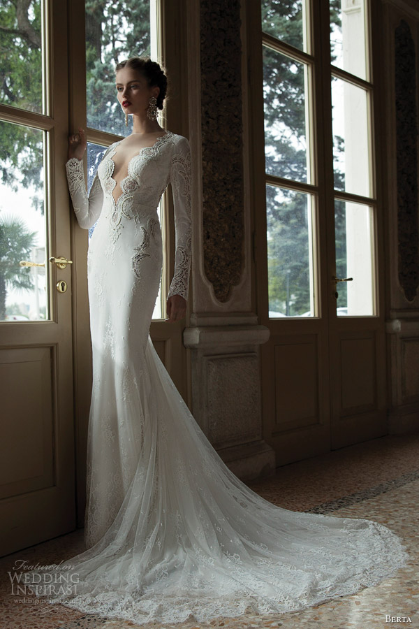 berta bridal 2014 wedding dress long sleeves
