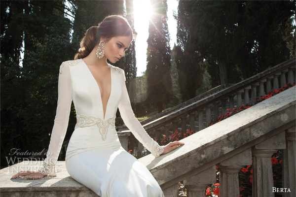 berta fall winter 2014 long sleeve wedding dress