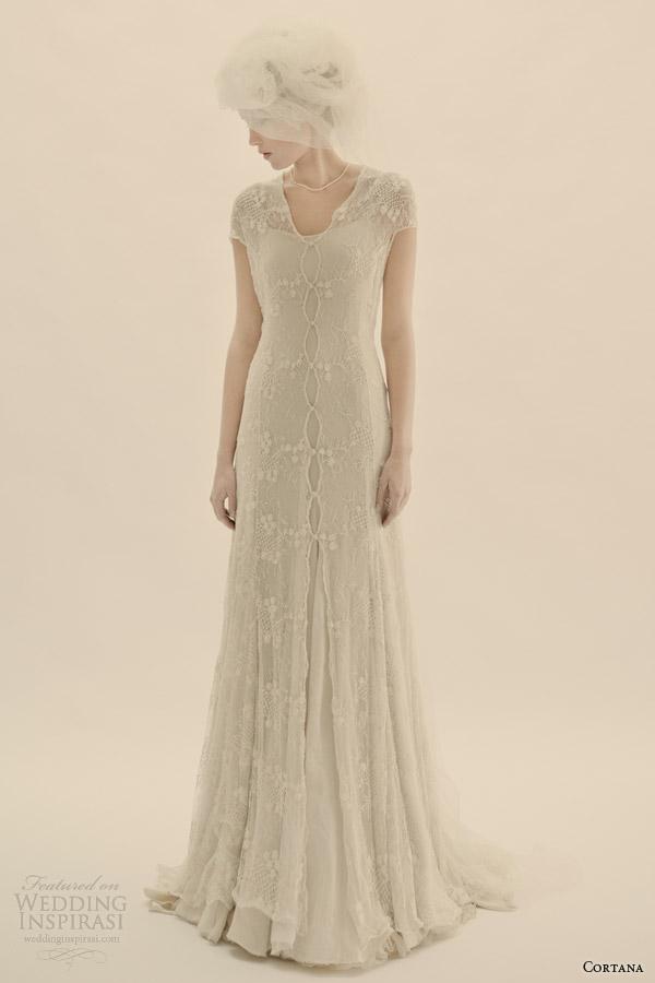 cortana bridal lace wedding dress with lining