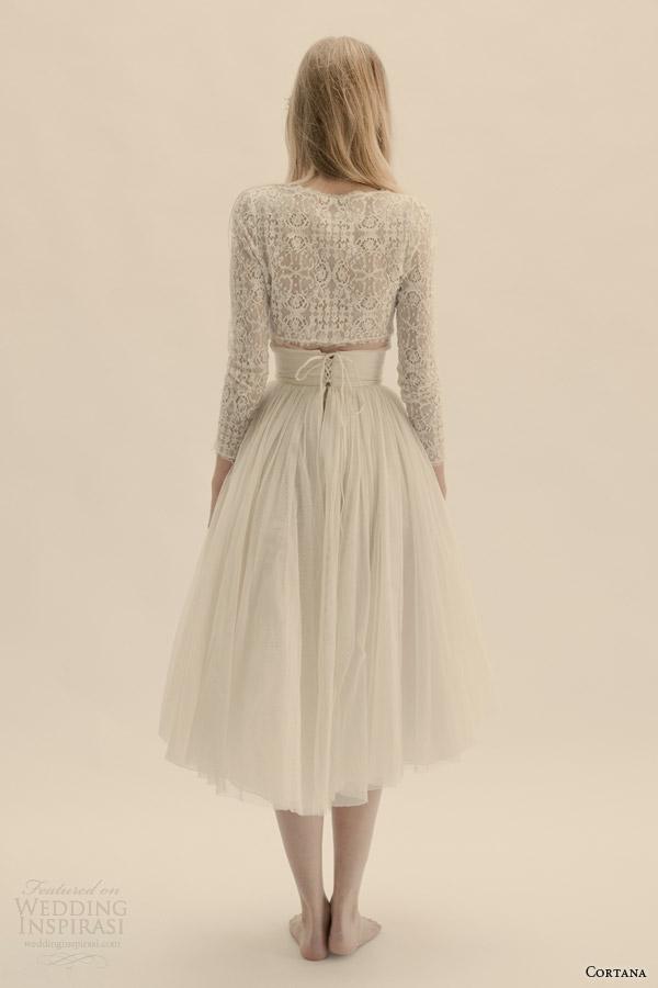 cortana bridal vesta top peonia skirt back view