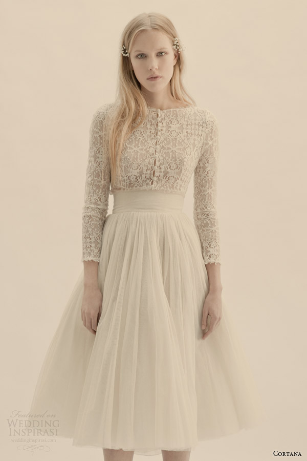 cortana bridal vesta top peonia skirt
