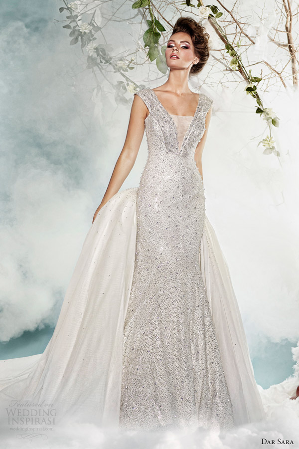 dar sara bridal 2014 wedding dress with swarovski crystals