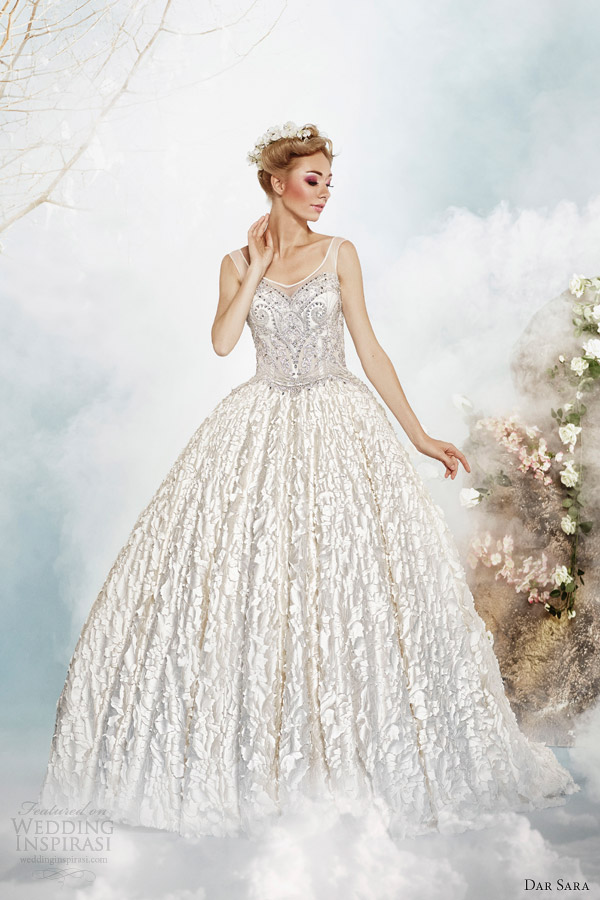 dar sara bridal wedding dress 2014 princess ball gown