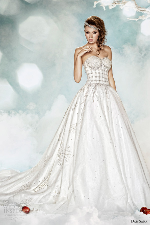 dar sara bridal wedding dress 2014 strapless ball gown