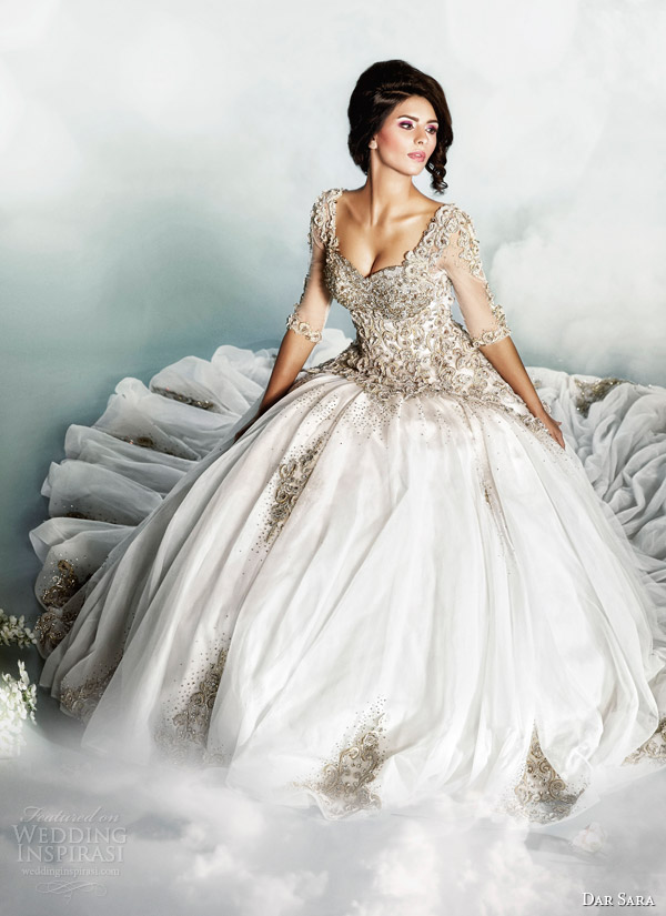 dar sara wedding dress 2014 bridal gown by dubai designer joumana al hayek