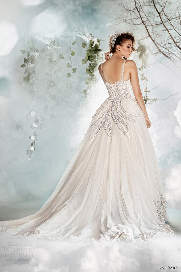dar sara wedding dresses 2014 ball gown with straps back