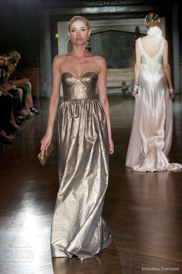 Metallic Wedding Dress
