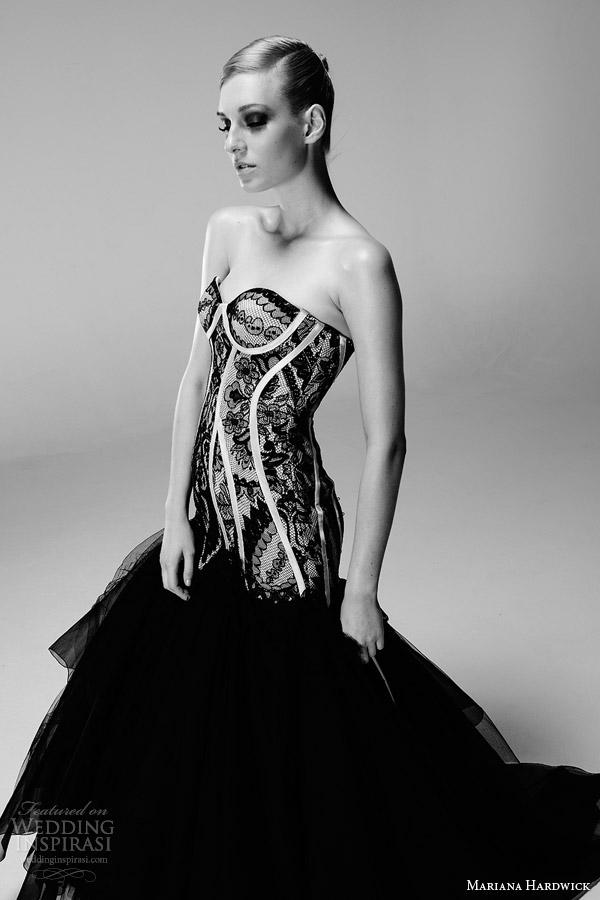 mariana hardwick bridal 2014 black angelette wedding dress