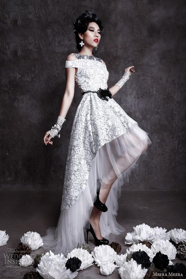 meera meera bridal fall 2013 2014 high low wedding dress