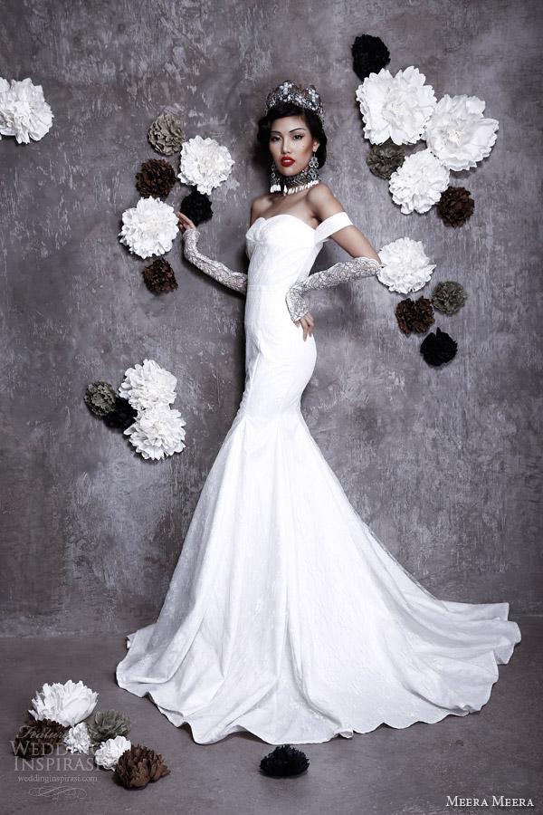 meera meera fall 2013 2014 mermaid wedding dress