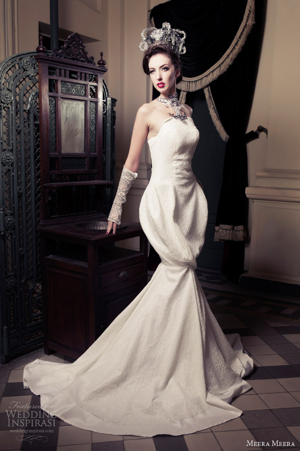 Mermaid Cut Wedding Dresses 4 Vintage meera meera wedding dresses
