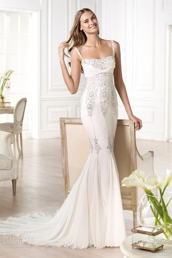 Pronovias Atelier 2014 Yalina Wedding Dress Straps
