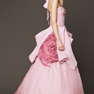 vera wang wedding dresses fall 2014 bridal pink ball gown peony flower accent