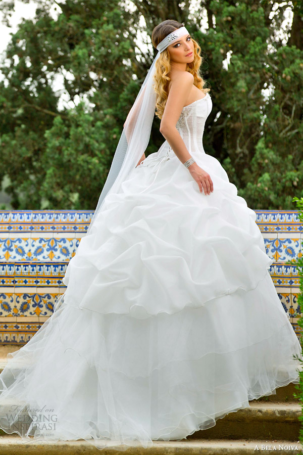 a bela noiva bridal 2014 strapless ball gown pick up skirt