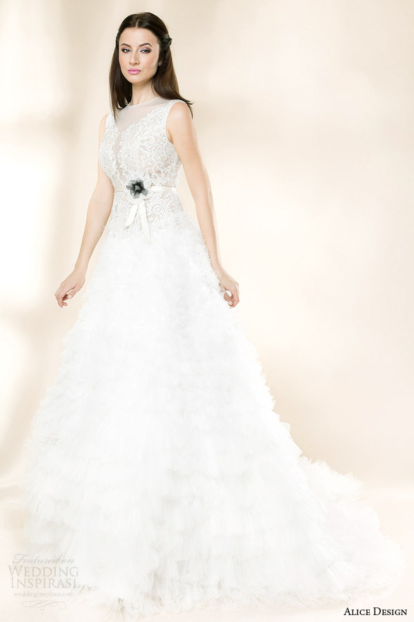 alice design bridal 2014 giselle sleeveless wedding dress