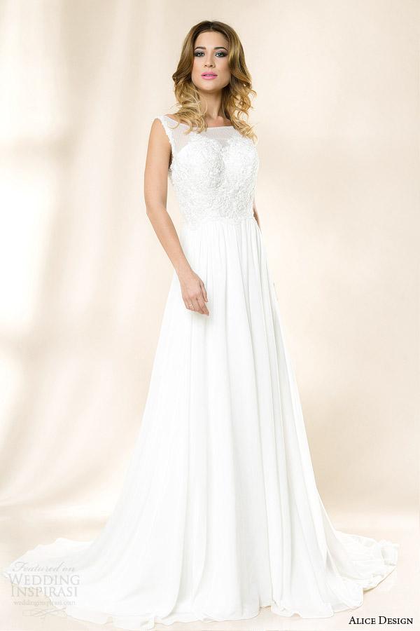 alice design bridal 2014 rosa sleeveless wedding dress
