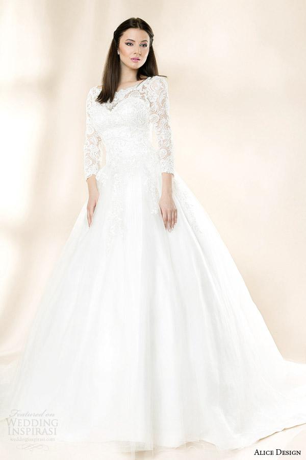 Alice Design 2014 Wedding Dresses Vintage Love Bridal