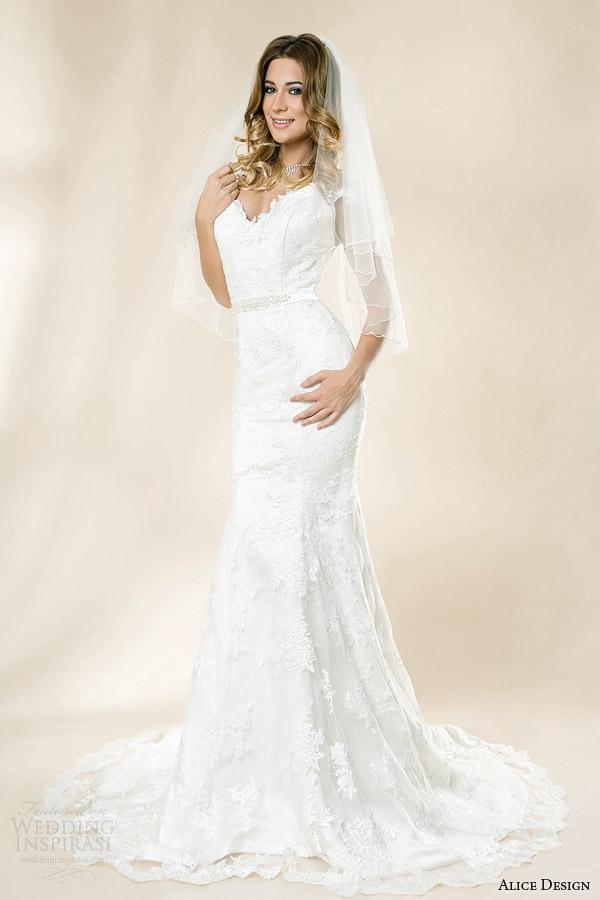 alice design romania bridal 2014 olive mermaid wedding dress