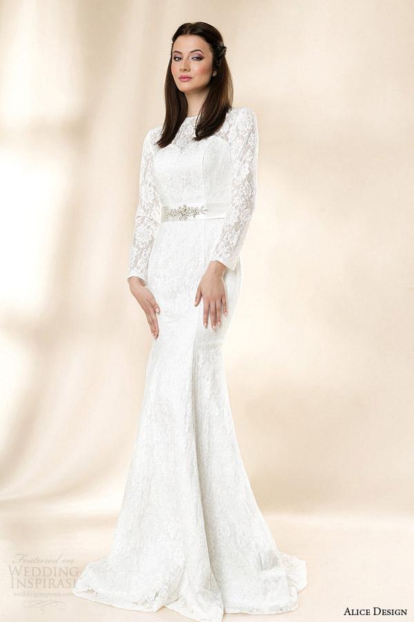 alice design wedding dresses 2014 matilda long sleeve lace gown