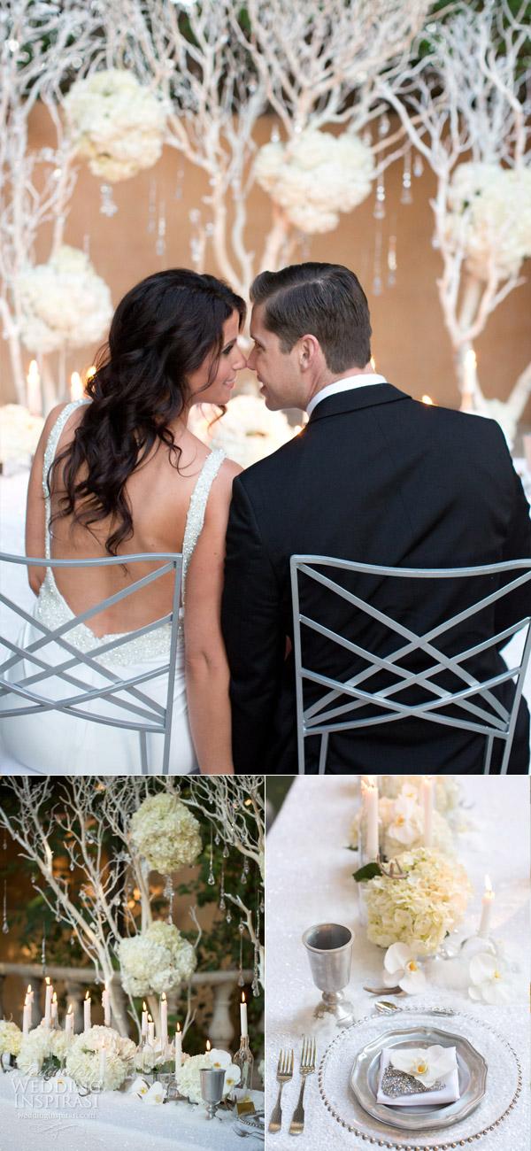 allure bridals dress style 9102 white winter wedding setting