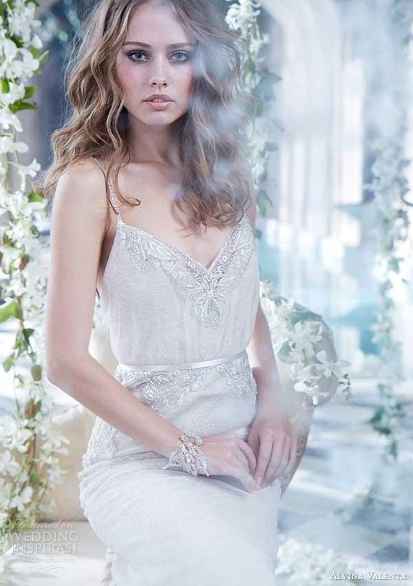 alvina valenta spring 2014 blouson wedding dress with straps style 9409