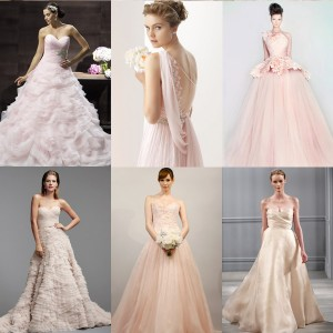 bridal trends 2014 color blush pink wedding dresses