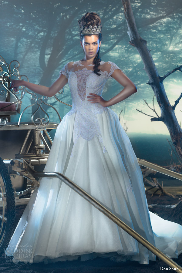 dar sara wedding dresses 2014 vienna bridal collection empress princess wedding dress