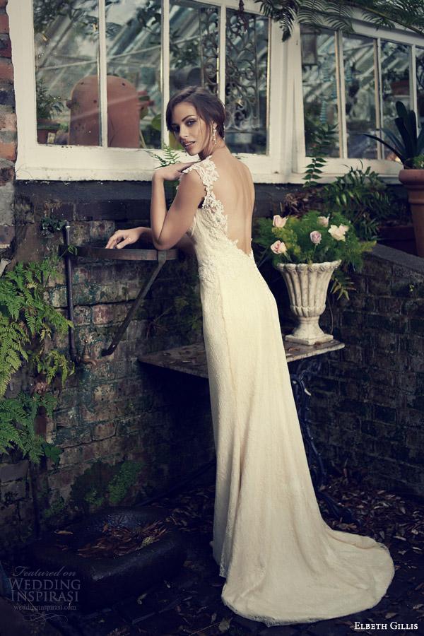 elbeth gillis bridal 2014 zelda wedding dress embroidered straps back train
