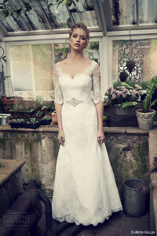 elbeth gillis wedding dresses 2014 catherine lace gown sleeves