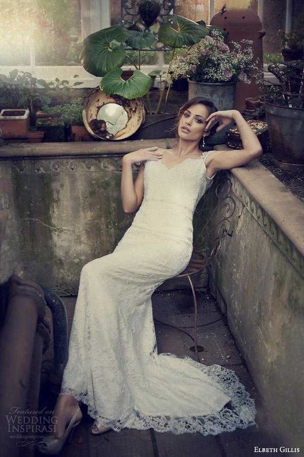 elbeth gillis wedding gowns 2014 edith lace wedding dress