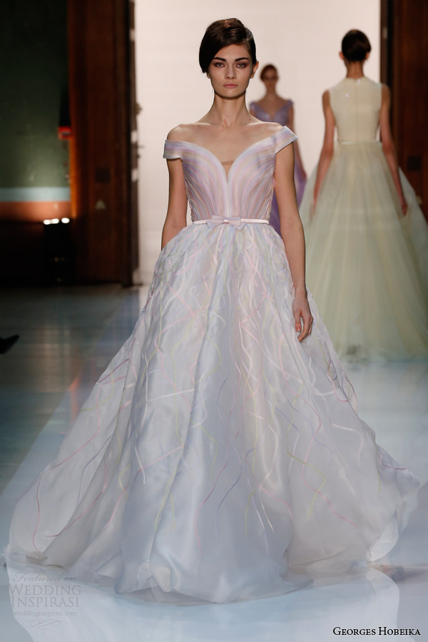 georges hobeika couture spring 2014 pastel princess gown